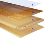 How engineered wood flooring is constructed